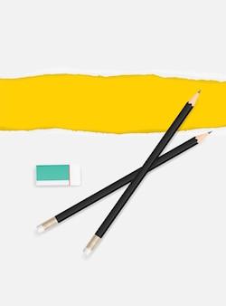 Bordas de papel rasgado para plano de fundo