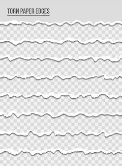 Bordas multicoloridas de papel rasgado