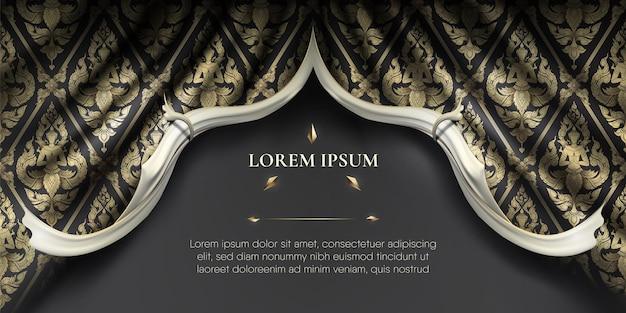 Bordas suaves e onduladas brancas em cortina de tecido de seda ondulada