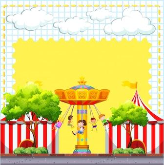 Border design com cena de circo