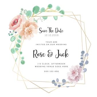 Borgonha e blush floral water frame do casamento da cor