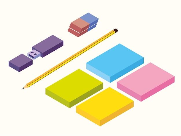 Borracha de lápis de escritório usb de trabalho