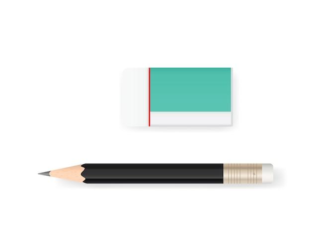 Borracha e lápis.