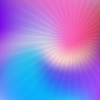 Borrão com raios starburst