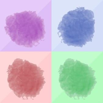 Borrões agradável da aguarela em cores diferentes