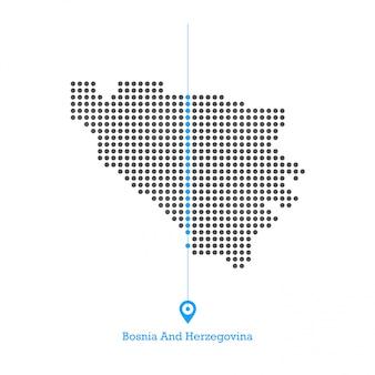 Bósnia e herzegovina pontilhada mapa vector design