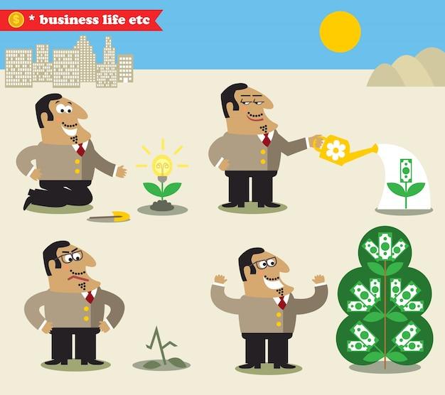 Boss regando a árvore da idéia ao lucro