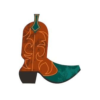Bota de caubói. ilustração vetorial