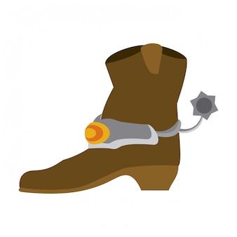 Bota de cowboy isolado