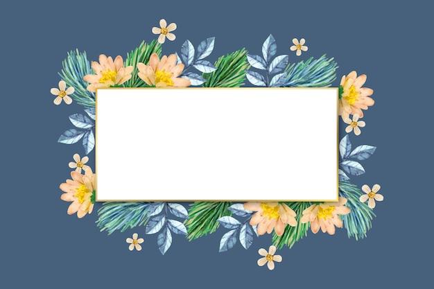 Botânica de inverno com banner vazio
