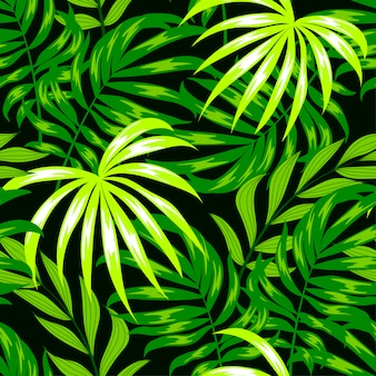 Botânica padrão sem emenda com folhas