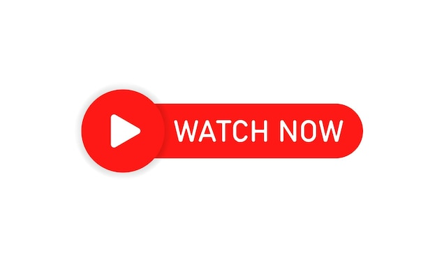 Botão assistir agora. assistir transmissão online. vetor eps 10. isolado no fundo branco.