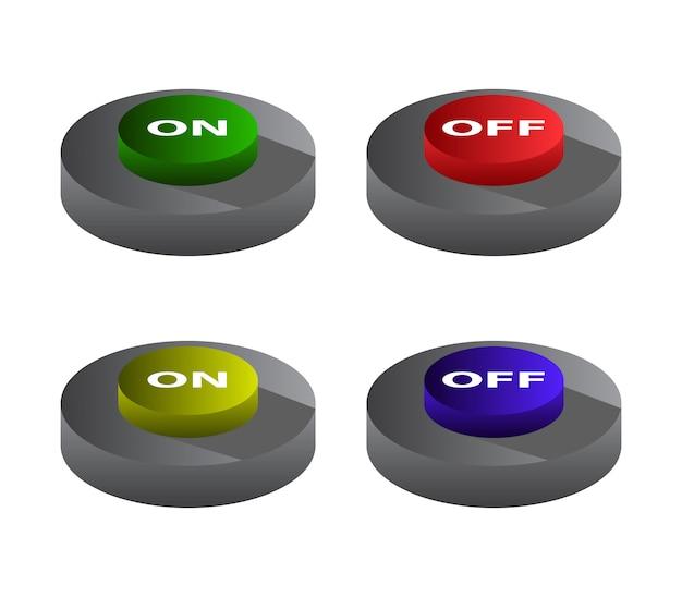 Botão ativado desativado