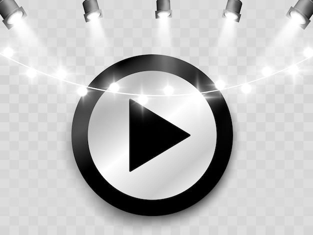 Botão. botão play. reproduza o vídeo.