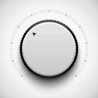 Botão branco da música da tecnologia