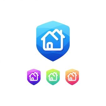 Botão casa emblema interruptor seguro