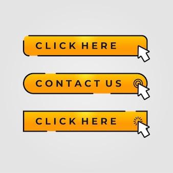Botão clique criativo cor amarela