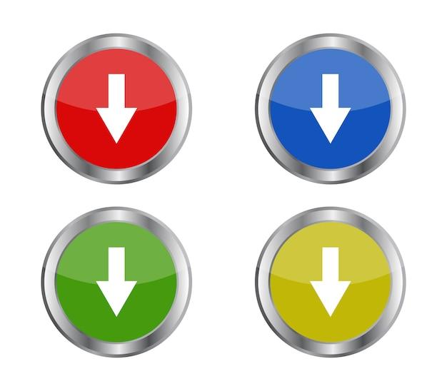 Botão com seta de download