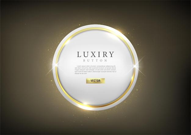 Botão conjunto web luxo brilhante ouro