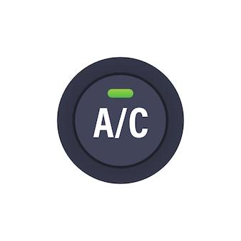 Botão de ar condicionado do carro em fundo branco. ilustração de estoque vetorial
