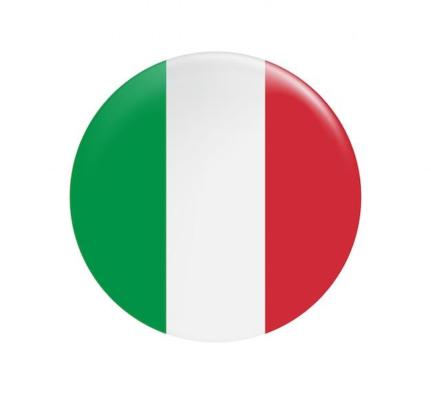 Botão de bandeira de itália.