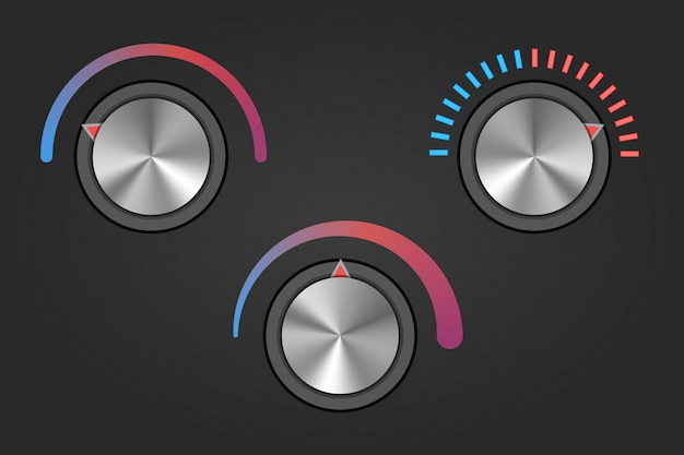 Botão de botão de temperatura realista