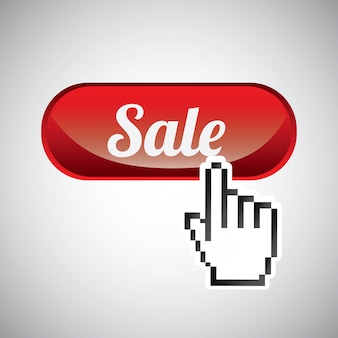Botão de conceito de venda