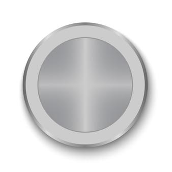 Botão de discagem. botão de metal realista
