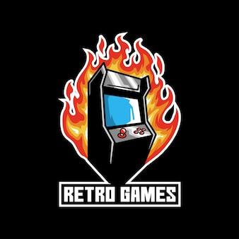 Botão de dispositivo de arcade de console de jogos retrô
