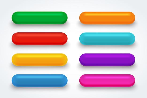 Botão de download de vidro de cor.