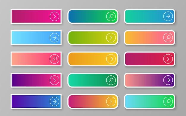 Botão de gradiente da web