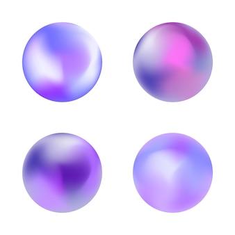 Botão de gradiente holográfico arredondado. modelos de vetor para cartazes, banners, folhetos, apresentações e relatórios