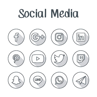 Botão de ícone de mídia social