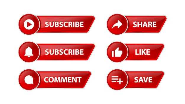 Botão de inscrição do youtube com ícones de notificação