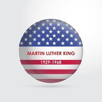Botão de martin luther king da bandeira dos eua