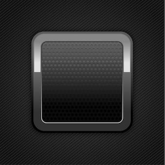 Botão de metal com textura de perfuração