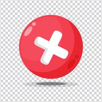 Botão de recusa de sinal em fundo em branco