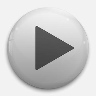 Botão de reprodução 3d realista. ilustração vetorial