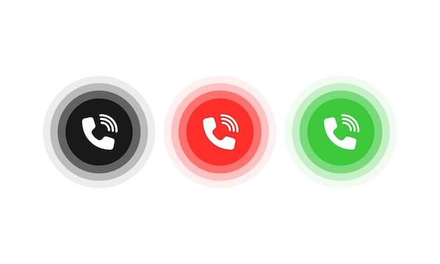 Botão de resposta e recusa. ícone para design de site, aplicativo móvel, interface do usuário. vetor