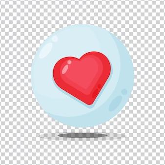 Botão de sinal de gosto em fundo em branco