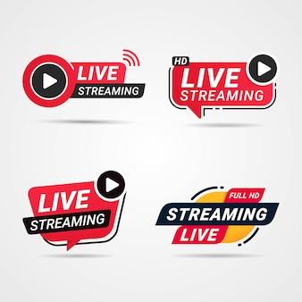 Botão de transmissão ao vivo