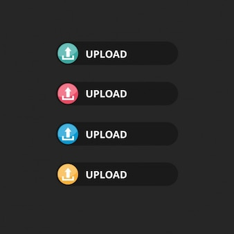 Botão de upload vector