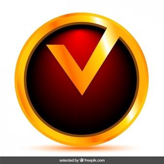 Botão de verificação vermelho