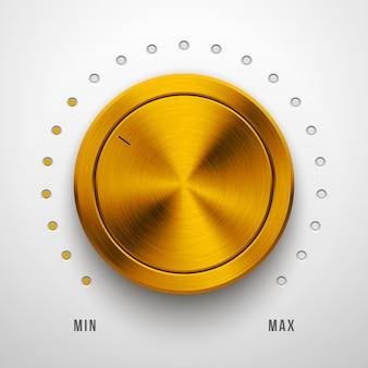 Botão de volume da tecnologia gold metal