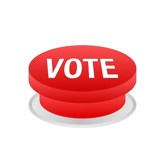 Botão de votação. clique no ícone de mão. clique no ícone do dedo. ilustração de estoque vetorial