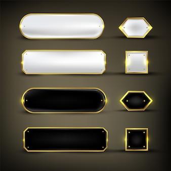 Botão definir cor ouro brilhante
