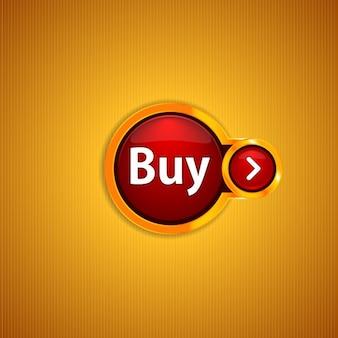Botão dourado brilhante de buy
