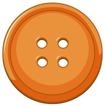 Botão laranja isolado