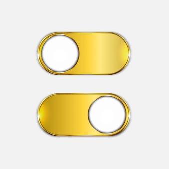 Botão liga / desliga dourado