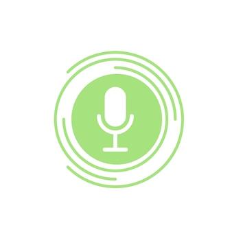Botão no ar para rádio vídeo blog podcast show mídia social botão ou banner no ar